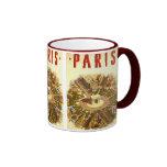 Voyage vintage, Arc de Triomphe Paris France Mug Ringer