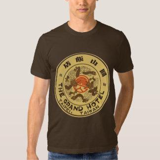 Voyage vintage Asie, hôtel grand, Taïpeh, Taïwan T-shirts