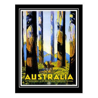 Voyage vintage Australie de carte postale