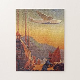 Voyage vintage, avion au-dessus des ordures à Hong Puzzle