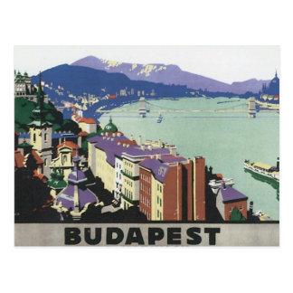 Voyage vintage Budapest Hongrie Carte Postale