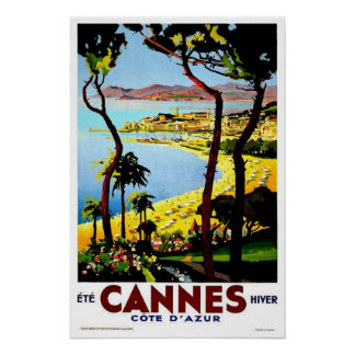 Voyage vintage, Cannes Affiches