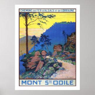 Voyage vintage d'Alsace France Posters