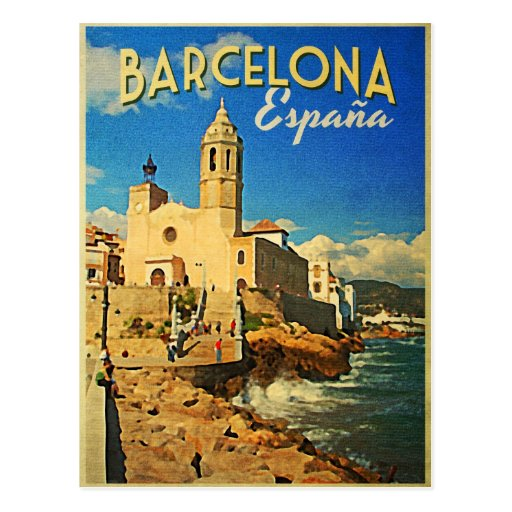 Voyage vintage de Barcelone Espagne Cartes Postales