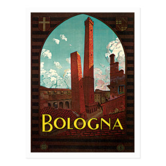 Voyage vintage de Bononia Italie de Bologna Cartes Postales
