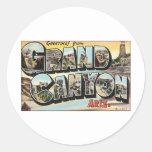 Voyage vintage de canyon grand autocollants