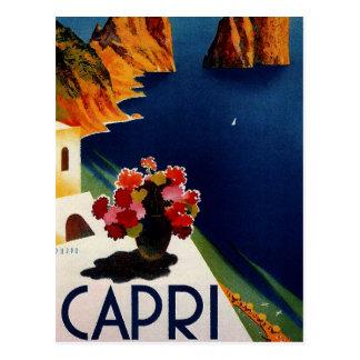 Voyage vintage de Capri Italie Cartes Postales