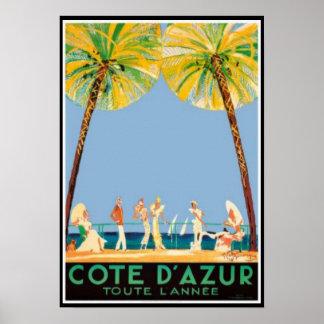 Voyage vintage de Cote d'Azur