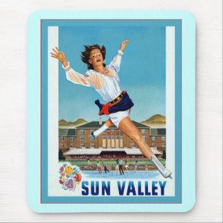 Voyage vintage de ~ de Sun Valley Tapis De Souris