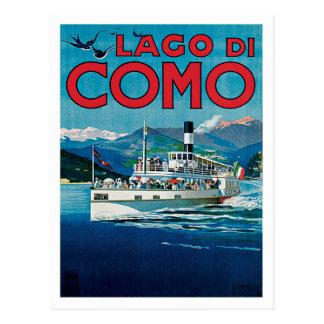 Voyage vintage de Lago Di Como Italie Carte Postale