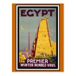 Voyage vintage de l'Egypte Cartes Postales
