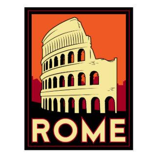 voyage vintage de l'Europe de Colisé de Rome Carte Postale