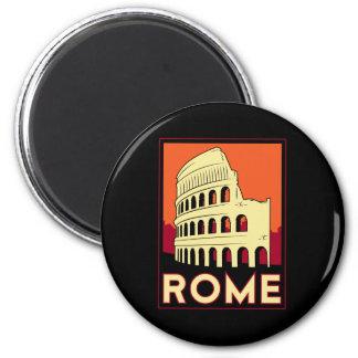 voyage vintage de l'Europe de Colisé de Rome Itali Magnet Rond 8 Cm