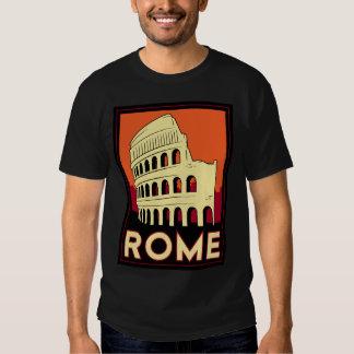 voyage vintage de l'Europe de Colisé de Rome T-shirts