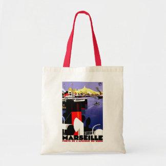 "Voyage vintage de ""Marseille, France"" Sac En Toile"