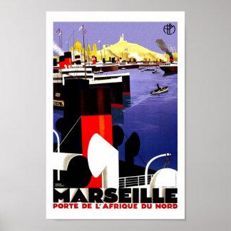 Voyage vintage de Marseille Posters
