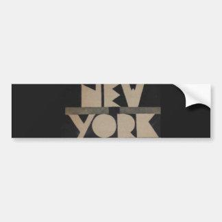 Voyage vintage de New York Autocollant Pour Voiture