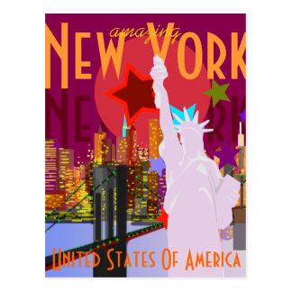 Voyage vintage de New York Carte Postale