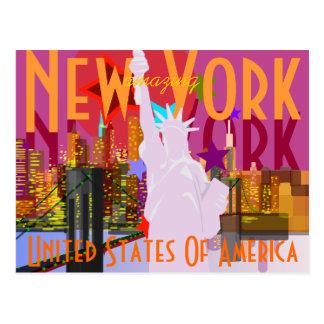 Voyage vintage de New York Cartes Postales