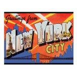 Voyage vintage de New York City Carte Postale