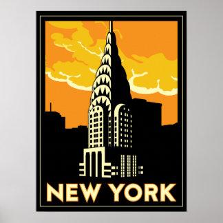 voyage vintage de New York Etats-Unis Etats-Unis r Affiches