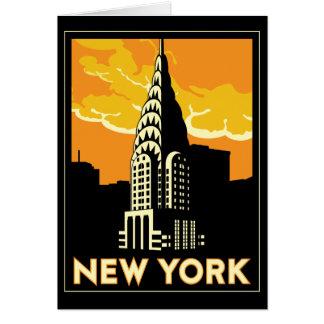voyage vintage de New York Etats-Unis Etats-Unis r Carte De Vœux