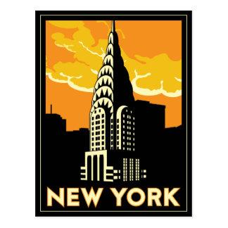 voyage vintage de New York Etats-Unis Etats-Unis r Carte Postale