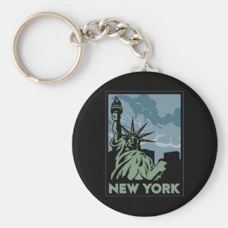 voyage vintage de New York Etats-Unis Etats-Unis r Porte-clé Rond