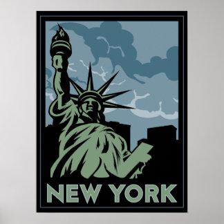 voyage vintage de New York Etats-Unis Etats-Unis r Poster
