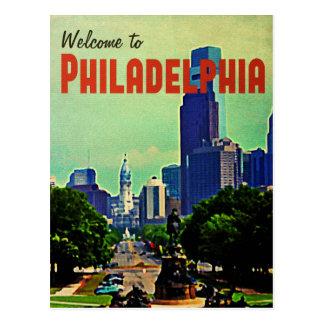 Voyage vintage de Philadelphie Carte Postale