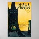 Voyage vintage de Prague (Praha) Posters