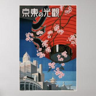 Voyage vintage de Tokyo Affiches