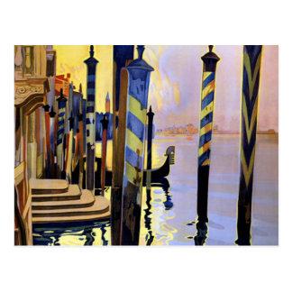 Voyage vintage de Venise Italie de canal grand Carte Postale