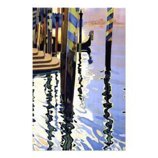 Voyage vintage de Venise Italie de canal grand Papier À Lettre Customisé