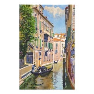 Voyage vintage de Venise Italie de gondoles de Papiers À Lettres
