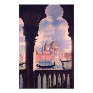 Voyage vintage de Venise Italie Motifs Pour Papier À Lettre