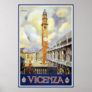 Voyage vintage de Vicence Italie Affiches