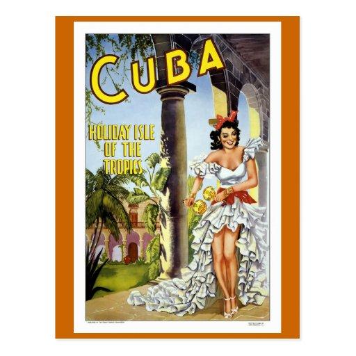 "Voyage vintage du ""Cuba"" Cartes Postales"