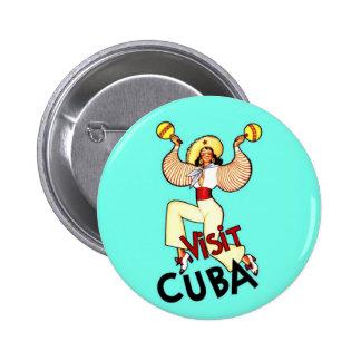 Voyage vintage du Cuba de visite Badges Avec Agrafe