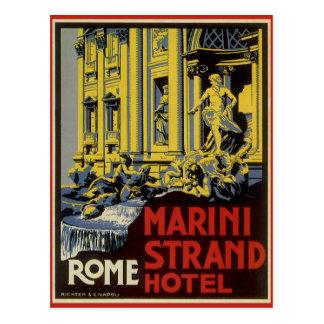 Voyage vintage hôtel de brin de Marini Rome Ita Carte Postale