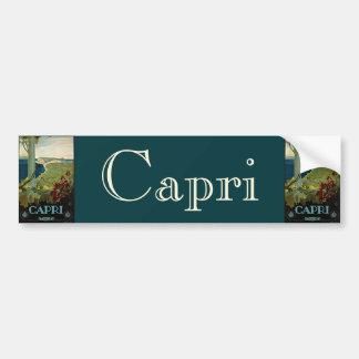 Voyage vintage, île côte de Capri, Italie Italie Autocollant Pour Voiture