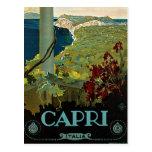 Voyage vintage, île côte de Capri, Italie Italie Carte Postale