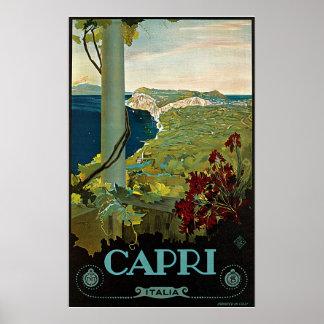 Voyage vintage, île côte de Capri, Italie Italie Posters