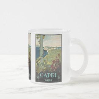 Voyage vintage, île côte de Capri, Italie Italie Mug En Verre Givré