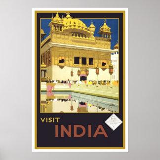 Voyage vintage Inde Affiches
