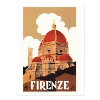 Voyage vintage Italie, Florence - Carte Postale