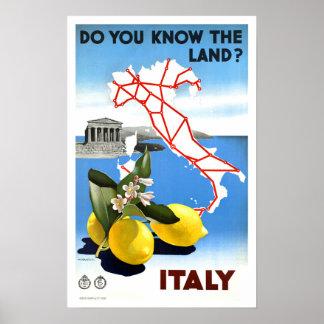Voyage vintage Italie Posters