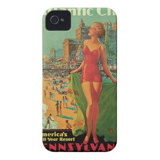 Voyage vintage ; La station de vacances d'Atlantic Coque Case-Mate iPhone 4