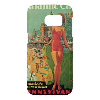 Voyage vintage ; La station de vacances d'Atlantic Coque Samsung Galaxy S7