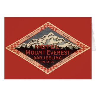 Voyage vintage, le mont Everest, Darjeeling Inde Carte De Vœux